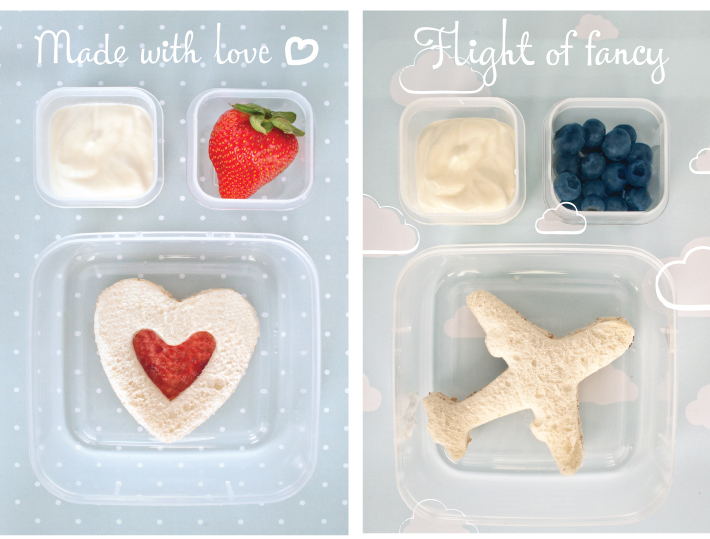 Sandwich shapes - Lunchbox Ideas