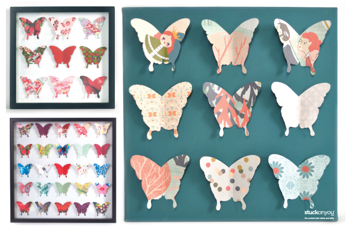 HOW TO MAKE BUTTERFLY WALL ART