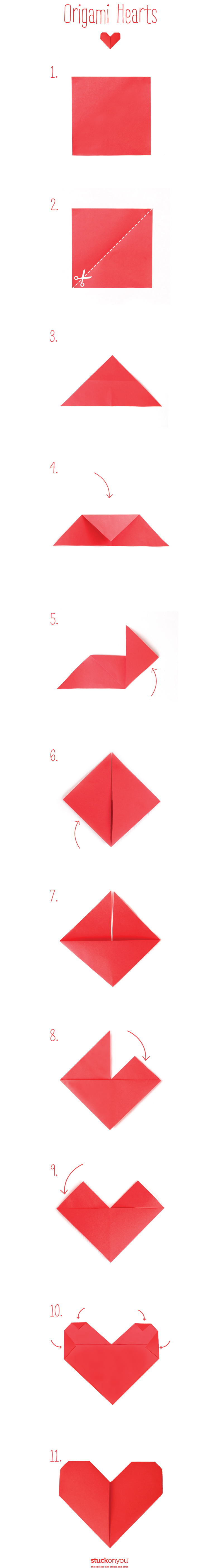 How to make origami hearts stuck on you how to fold origami hearts jeuxipadfo Images