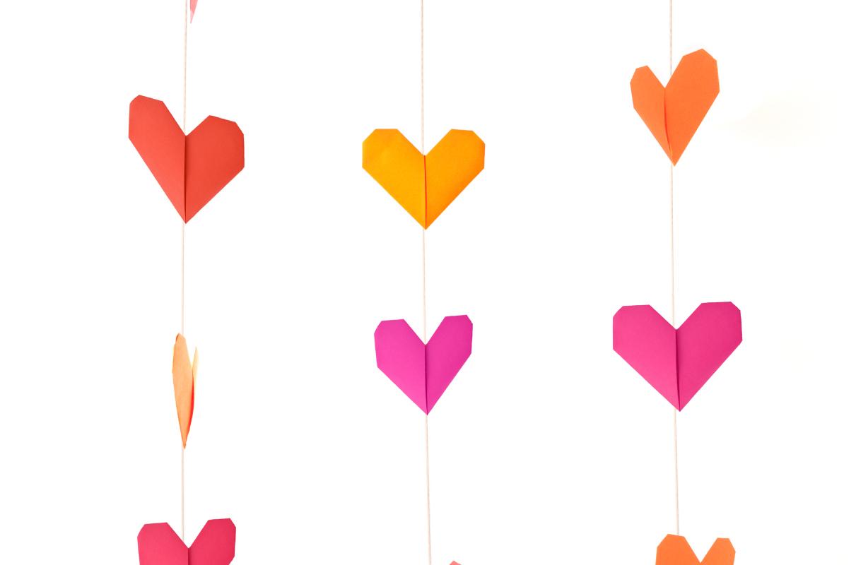 Origami Heart Garlands