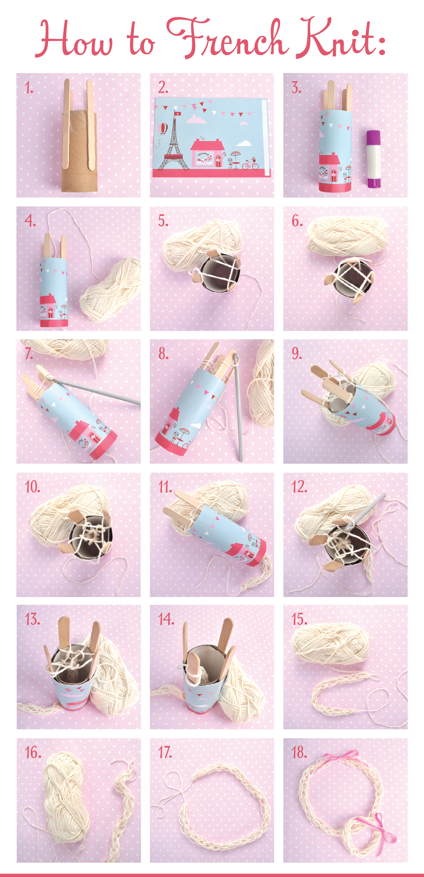 French Knitting Instructions : How to do french knitting stuck on you