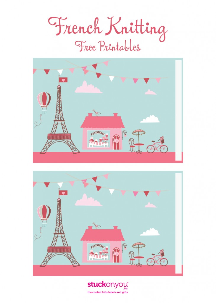 How to French Knit Free Printable