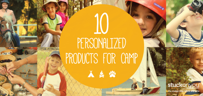 10 Personalized Products for Camp | Stuck on You