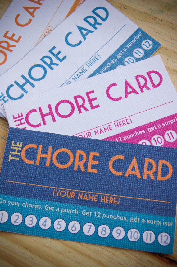 Chore Cards from Etsy