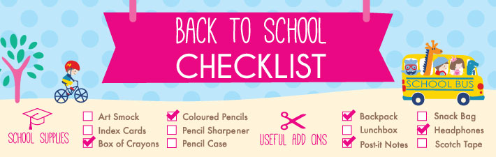 Back To School Checklist | Stuck on You