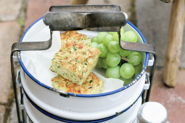 Zucchini Slice | Freezable Lunchbox Snacks | Stuck on You
