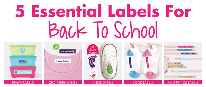 5 Essential Labels for Back to School | Stuck on You