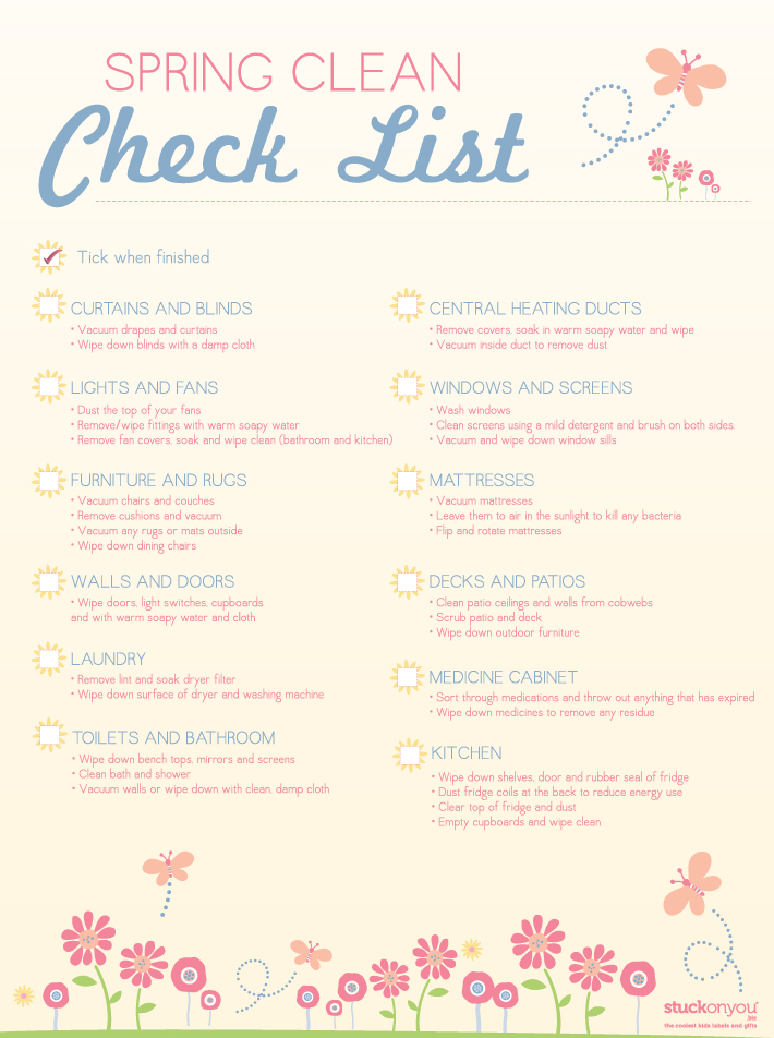 Free Printable Spring Cleaning Checklist | Stuck on You