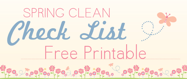 Spring Cleaning Checklist | Free Printable | Stuck on You