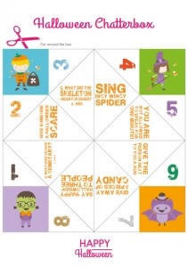 Halloween Chatterbox   Free Printables   Stuck on You
