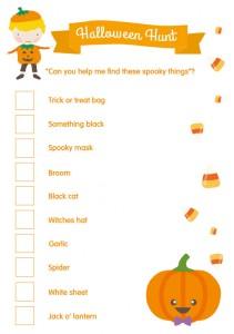 Free Printables Halloween Scavenger Hunt