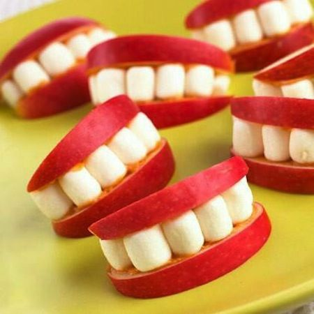 Apple Smiles | Healthy Halloween Snacks | Stuck on You