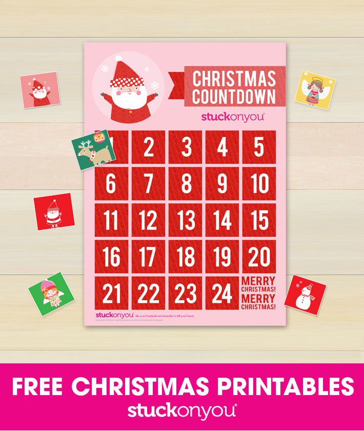 image regarding Christmas Countdown Printable titled Absolutely free Xmas Printables! - Trapped Upon By yourself