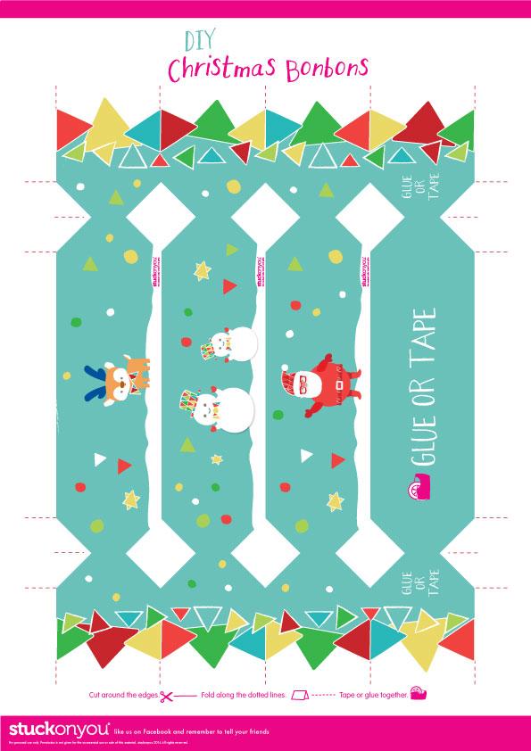 free printable christmas bon bons stuck on you - Free Printables For Christmas
