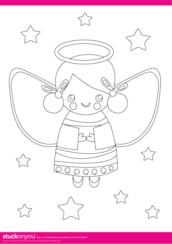 Free Printable | Christmas Colouring In | Stuck on You