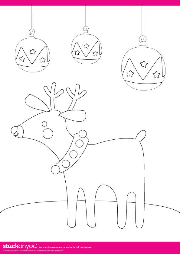 Free Printables | Christmas Colouring | Stuck on You