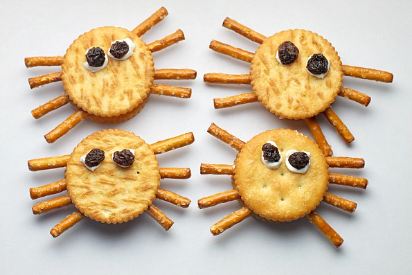Spider Crackers | Healthy Halloween | Stuck on You