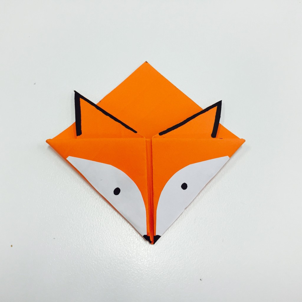 make your own fox bookmark
