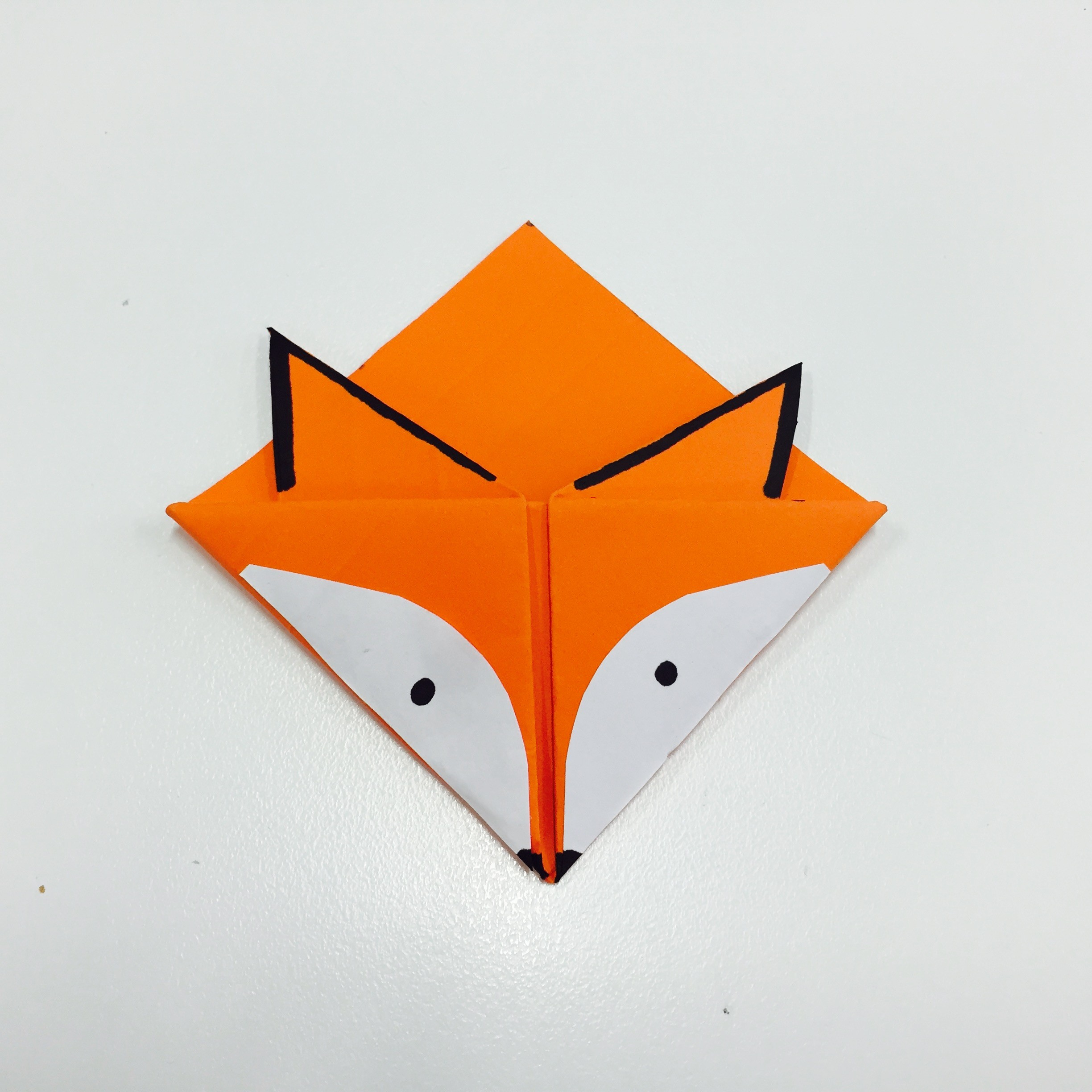 Origami Fox Face Easy to fold easy follow HD tutorial - YouTube | 2448x2448