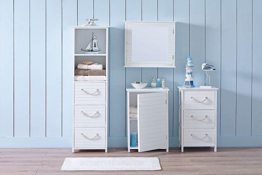 New Bathroom Storage Furniture  Mirrored Cabinets Amp Towel Storage