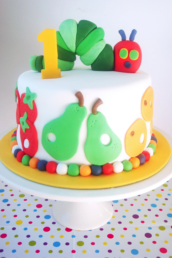 Hungry Caterpiller Birthday Cake