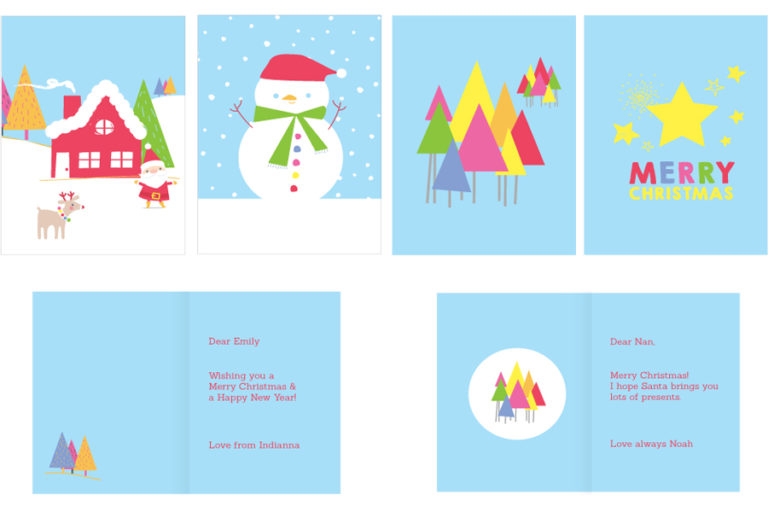 One of the many Christmas Card designs on offer this year from Stuck On You