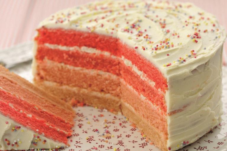Ombre Birthday Cake