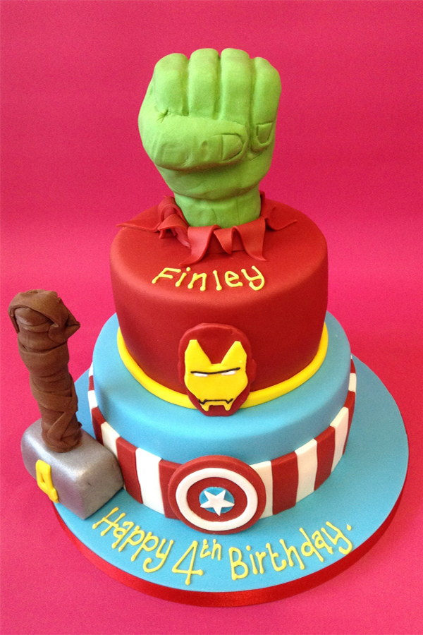 Marvel Birthday Cake