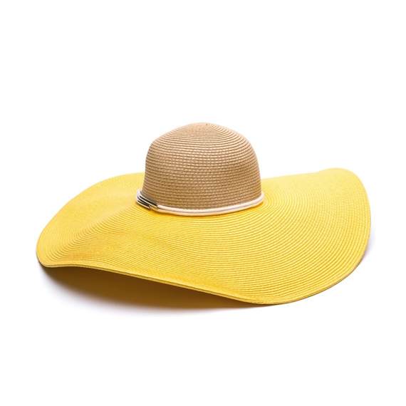 Image: Contrast Brim Sun Hat, Country Road