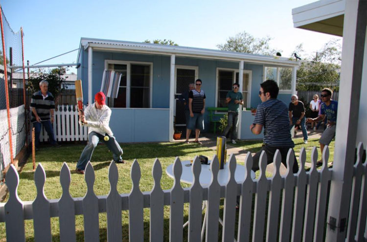 The author's family take Backyard Cricket very seriously