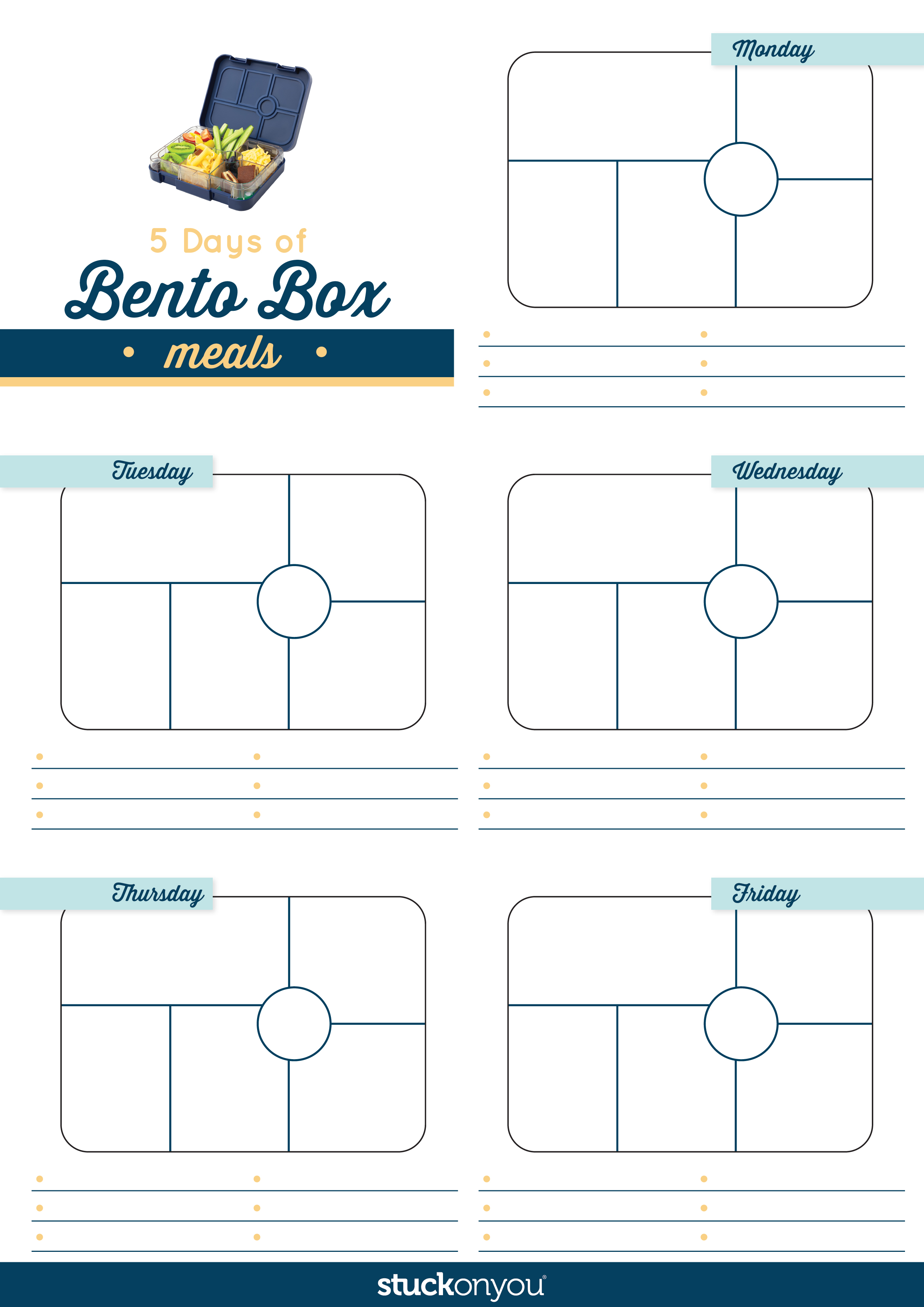 Our Free Printable Bento Box Meal Planner