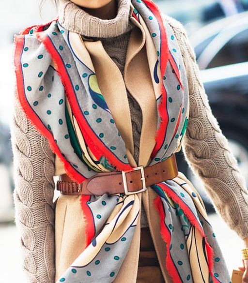 belted scarf nice