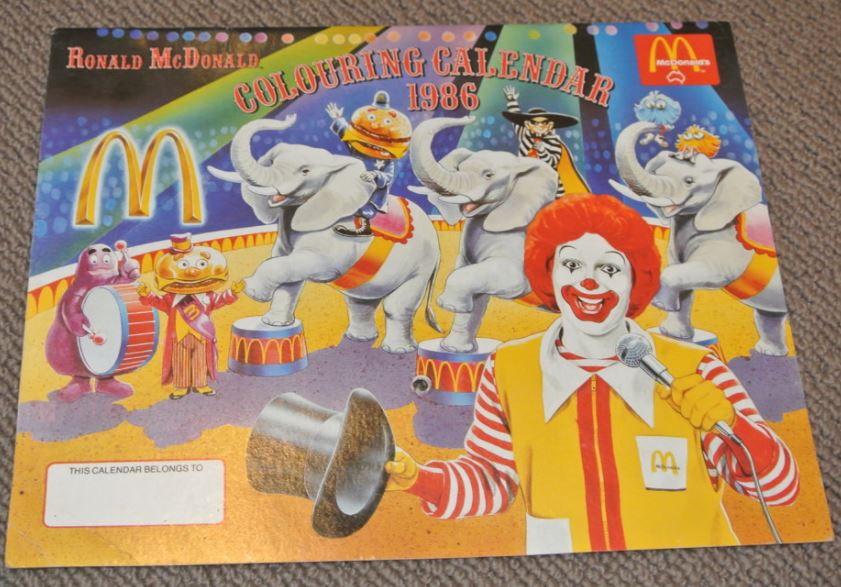 McDonald's calendar
