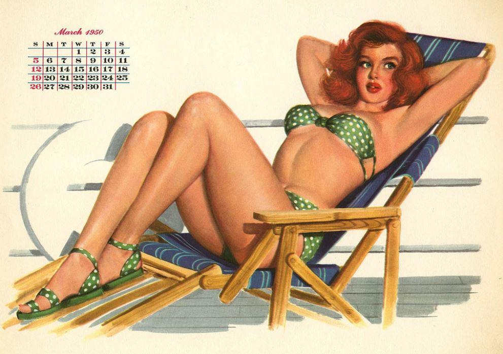 Pinup girls calendar
