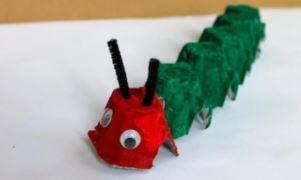 Cardboard crafts - caterpillar