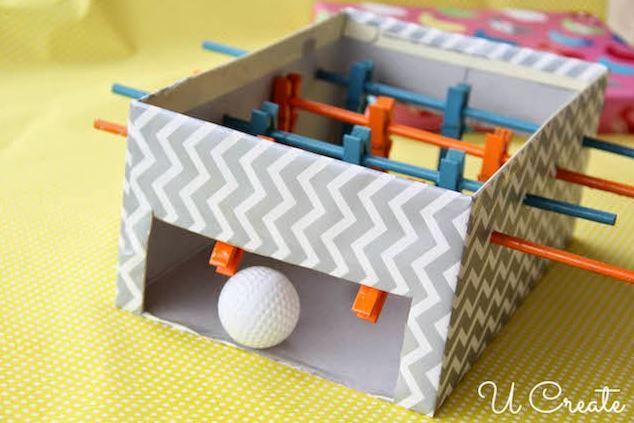 Cardboard crafts - foosball