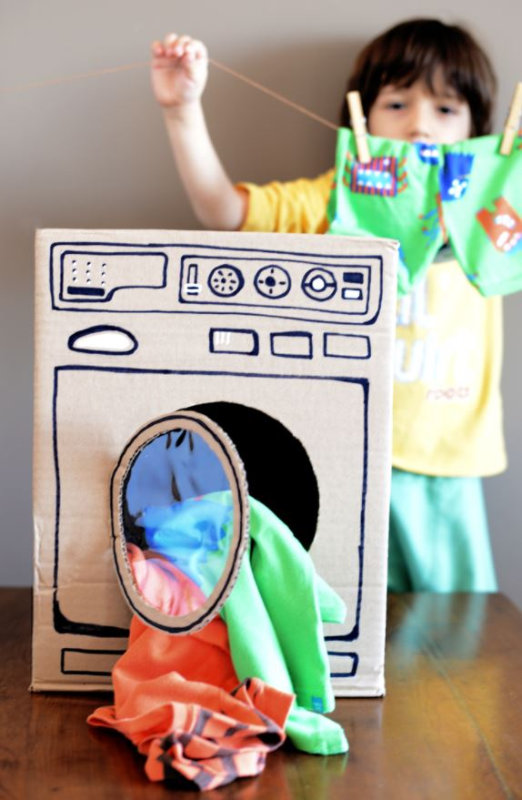 Cardboard crafts - washing machine