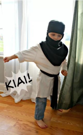 No-sew dress ups - Ninja