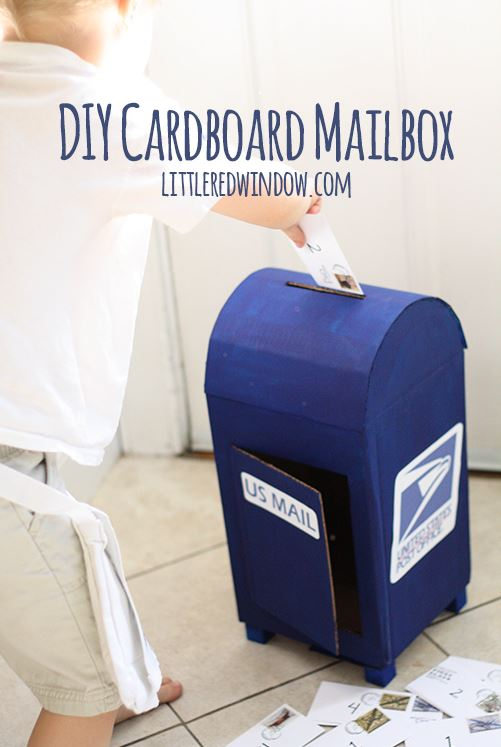 Cardboard crafts - postbox