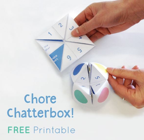 Download Our Printable Chore Chatterbox For Children
