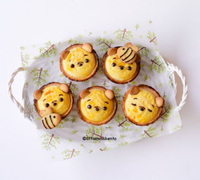 Adult bento - cheese tarts