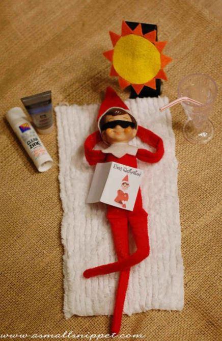 Elf on the Shelf - sunbake