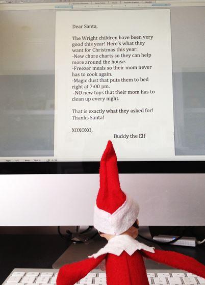 Elf on the Shelf - Letter