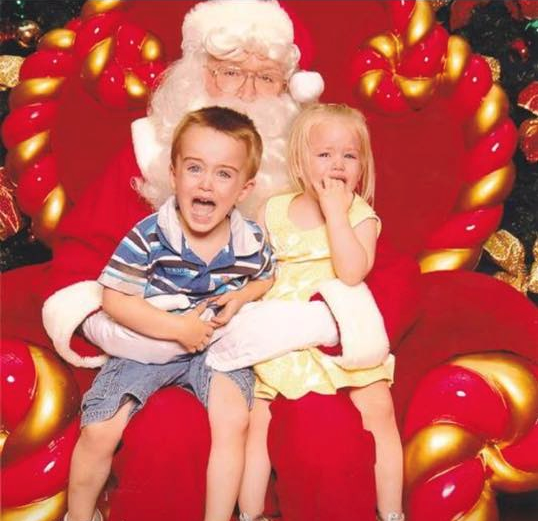 Kids with Santa photo