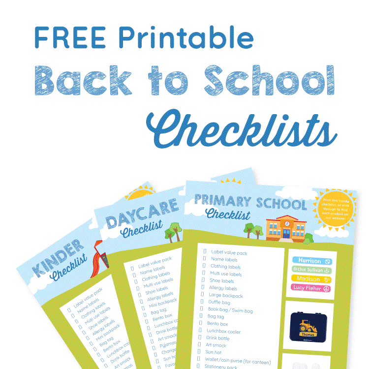 Free printable for Back to School