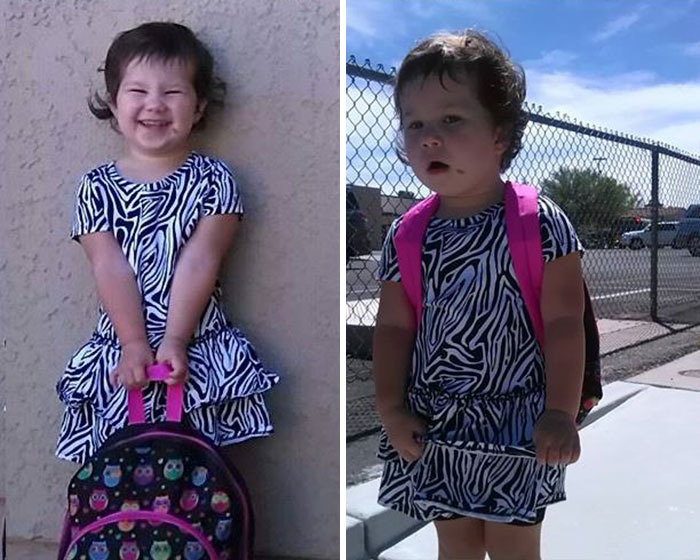 First day of school - Before and after