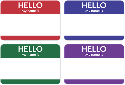 Pet names - name tags