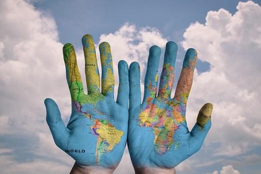 Left handed - World on hands