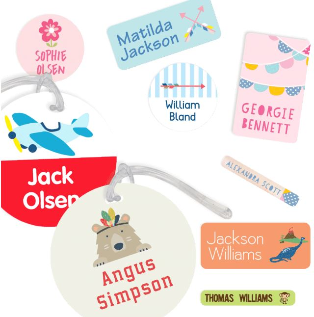 Starting preschool - name labels