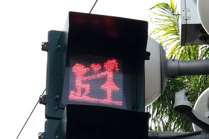 Valentine's Day - traffic lights